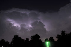 Lightning summer nights. Heat lightning during a thunderstorm in south Louisiana Stock Photography