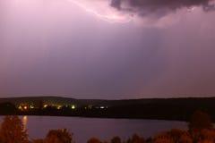 Lightning swept the sky Stock Images