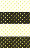Lightning Symbol Seamless Pattern Color Set Stock Photography