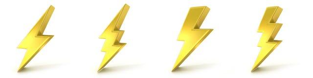 Lightning symbols Stock Image