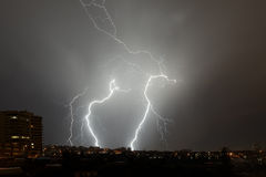 Lightning. Taken in Ankara/Turkey under heavy rain Stock Images