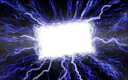 Lightning Text Box Royalty Free Stock Photo