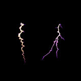Lightning thunder, electric discharge on black background. soft focus Royalty Free Stock Images