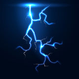 Lightning thunder storm vector background Stock Image