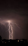 Lightning a thunderstorm, nightly cloudy sky Royalty Free Stock Image