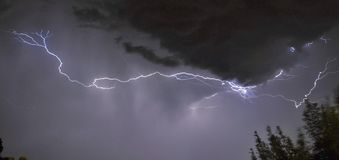 Lightning in a thunderstorm Royalty Free Stock Photos
