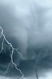 Lightning and tornadoes Stock Photo