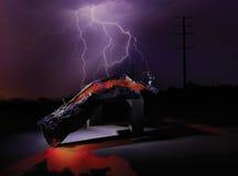 Lightning on tree Royalty Free Stock Photography