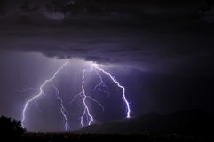 Lightning in the Tucson Valley Royalty Free Stock Photos