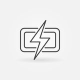 Lightning vector icon stock illustration