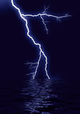 Lightning water reflection Stock Photography