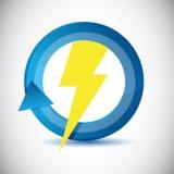 Lightning weather icon cycle illustration design Royalty Free Stock Photography