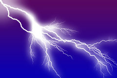 Lightning white Bolt Stock Photos