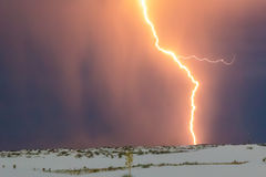 Lightning at White Sands National Monument Royalty Free Stock Photos