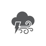 Lightning and wind icon isolated on white background. Vector illustration. Lightning and wind icon isolated on white background. Vector illustration royalty free illustration