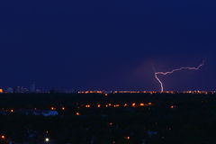 Lightning in Winnipeg Royalty Free Stock Photos