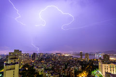 Lightning Writing Royalty Free Stock Photo
