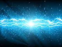 Lightnings on blue background Royalty Free Stock Photos