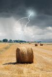 Lightnings in countryside Royalty Free Stock Photography