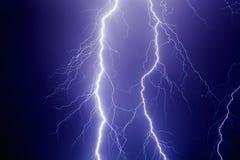 Lightnings in dark stormy sky Royalty Free Stock Photos