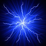 Lightnings fireball Royalty Free Stock Photo