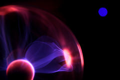 Lightnings of magic ball on black background Royalty Free Stock Photo