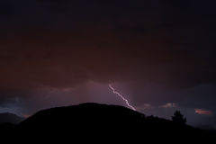 Lightnings in the night Royalty Free Stock Photo