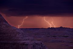 Lightnings Storm Royalty Free Stock Photos
