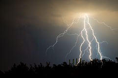 Lightnings and thunder Stock Images