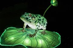 Lightobject de Chinise na noite foto de stock royalty free