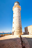 The lightouse in the castle of El Morro in Havana Stock Photo