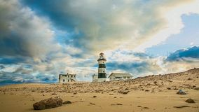 Lightouse and Clouds - Time Lapse stock footage