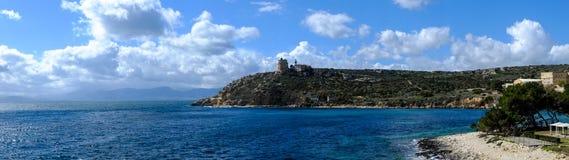 Lightouse do Capo Sant & x27; Elia fotos de stock royalty free