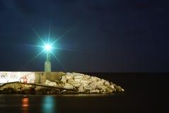 Lightouse la nuit Photographie stock