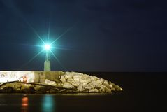 Lightouse at night Stock Photography