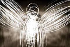 Lightpainted Angel Royalty Free Stock Photo