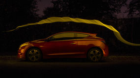 Lightpainted samochód Zdjęcie Royalty Free