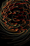 Lightpainting de feux d'artifice defocused Photographie stock libre de droits