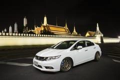 Lightpainting Honda Civic FB Fotografia Stock Libera da Diritti
