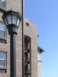 Lightpost & Dorms Royalty Free Stock Photography