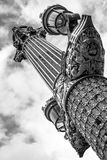 Lightpost in paris or paris the lightpost. Fancy lightpost in paris . ornate and decorated. champs elysees Royalty Free Stock Photography