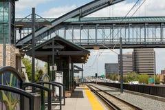 Lightrail-Station Stockbilder