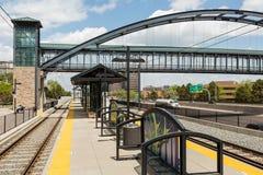 Lightrail-Station Stockfotos