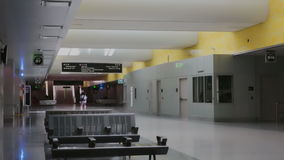 Lightrail station. Denver, Colorado, USA-August 31, 2014. Underground interior of Union Station transportation hub in downtown Denver, Colorado stock footage