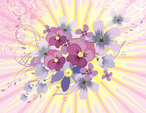 Lightray Floral Background Royalty Free Stock Images