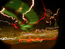 Lights. Background blur abstract image - red and orange Stock Photo