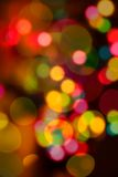 Lights. Out of focus christmas lights stock image