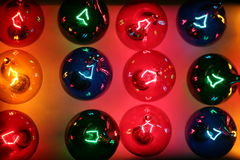 Lights 2. Rows of colored lights closeup Royalty Free Stock Photos