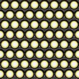 Lights. A large background of spot lights shining in the camera Stock Photos
