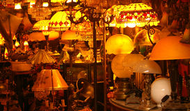 Lights. Store that sell lamps and lamps shade Stock Photography